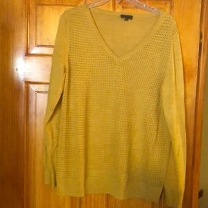 Mustard colored sweater